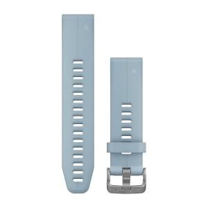 7a9800d9b3e595 Silikonowy pasek Garmin Quick Fit 20 mm - Fenix 5S - turkusowo-niebieski  [010